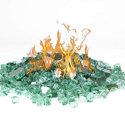 Online Promotion Fire Glass for Fire Pit 10 Pounds, Reflective 1/2 inch Fireplace Glass, Rock Outdoor