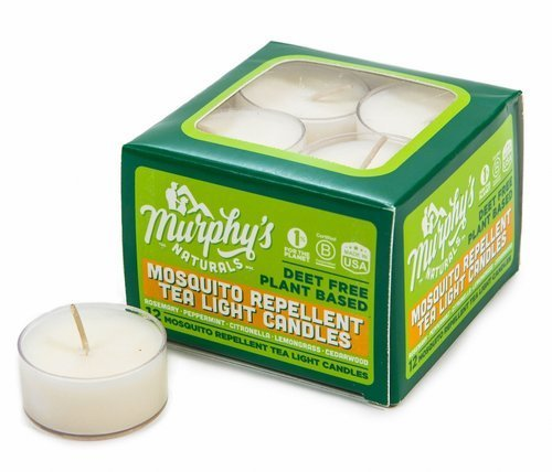 Murphy's Naturals Mosquito Repellent Tea Light Candles | Outdoor Citronella Candles for Patio, Yard and Garden | Rosemary, Peppermint, Lemongrass and Beeswax | Made in USA | 12 Candles Per Box]()