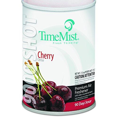 TimeMist 1042646 9000 Shot Metered Air Fresheners, Cherry, 7.5oz, Aerosol (Case of ()