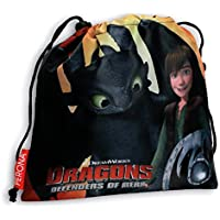 DRAGONS - Sac cordon gymnastique ou goûter Dragons