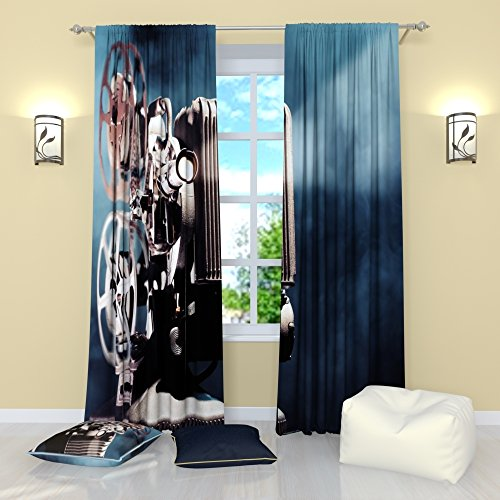 Art Curtains Collection by Factory4me Cinema art. Window Tre
