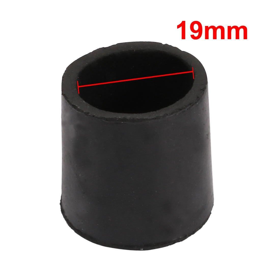 sourcingmap 2Pcs Furniture Table Chair Round Rubber Leg Tip Cap 19mm Inner Diameter