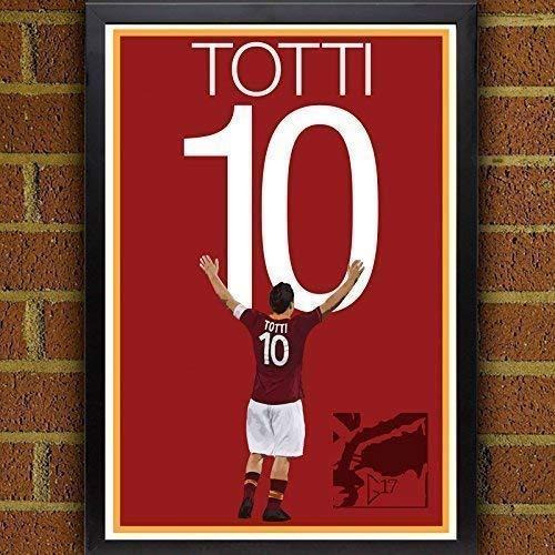Francesco Totti Poster - AS Roma Soccer Art ()