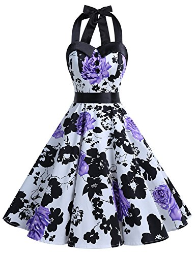 Dressystar Vintage Polka Dot Retro Cocktail Prom Dresses