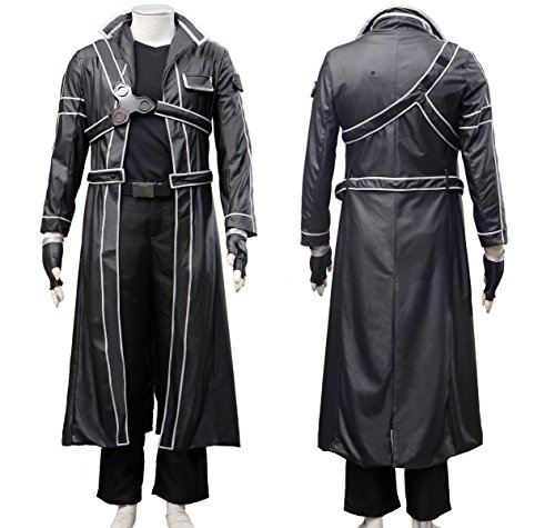 Another Me Men's Costume Sword Art Online Anime Kirito PU Jacket Coat SAO Outfit Cosplay Suit Male Medium by Another Me (Image #1)