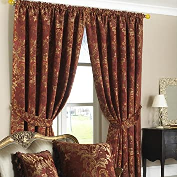 Red Gold Curtains Uk Best Curtains