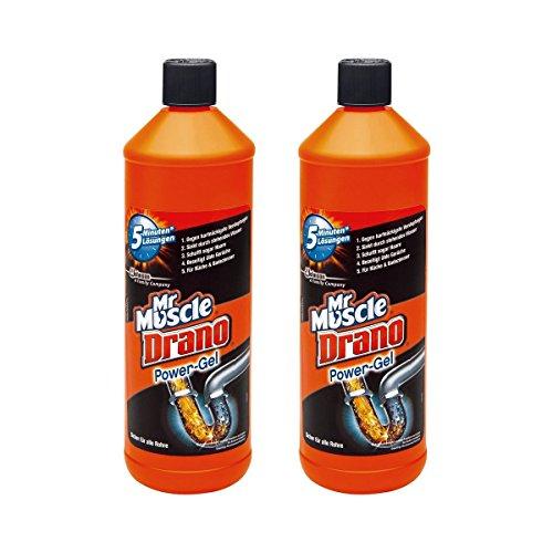 Drano Power Gel, 2er Pack (2 x 1000 ml)