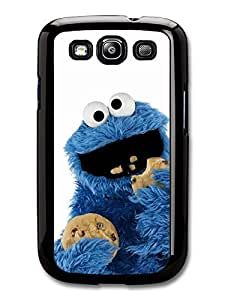 AMAF ? Accessories Cookie Monster Muppet Eating Biscuits with White Background case for Samsung Galaxy S3