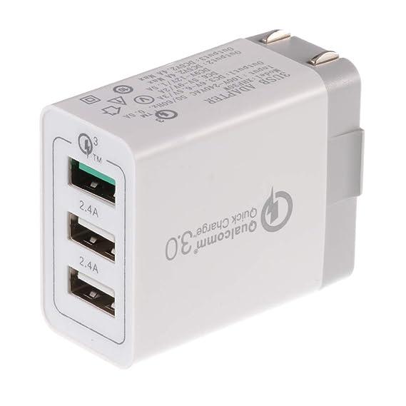 Amazon com: Qualcomm 3 0 Quick Charge 3 Port USB Wall Travel