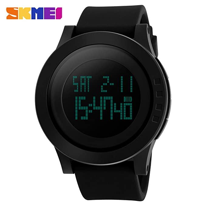 Amazon.com: SKMEI Military Sports Watches Fashion Silicone 50M Waterproof LED Digital Watch For Men Clock: Watches