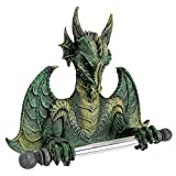 Toilet Paper Holder - Commode Dragon Tissue Tyrant Gothic Bathroom Decor - Toilet Paper Roll - Bathroom Wall Decor