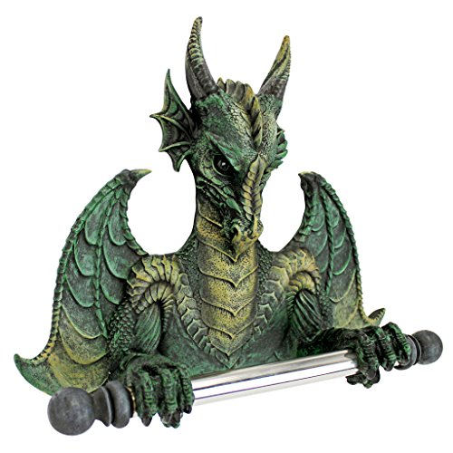 Toilet Paper Holder - Commode Dragon Tissue Tyrant Gothic Bathroom Decor - Toilet Paper Roll - Bathroom Wall Decor -