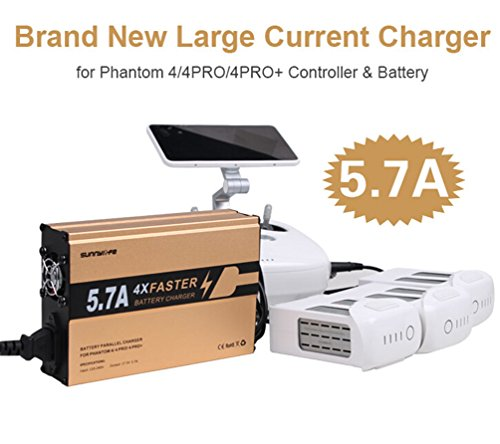 Drone Fans 4in1 Battery Faster Charger and Remote Controller Parallel Charger 5.7A Big Current for DJI Phantom 4 4PRO 4PRO Plus