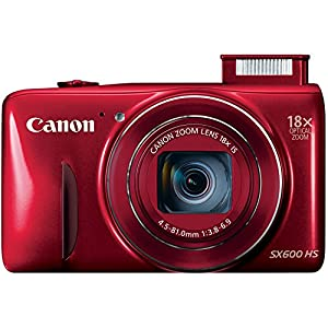 Canon PowerShot SX600 HS 16MP Digital Camera - Wi-Fi Enabled (Red)