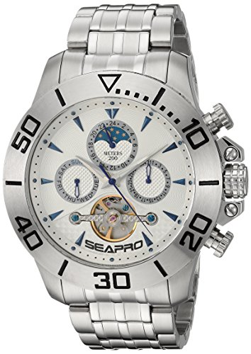 Seapro Men's 'Montecillo' Automatic Stainless Steel Casual Watch, Color:Silver-Toned (Model: SP5133)