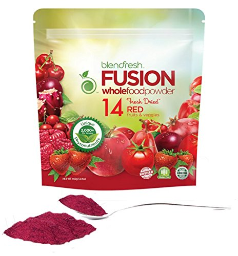 Superfood Whole Food Powder | 14 RED Fruits & Vegetables | Vegan. Gluten Free. Non-GMO | Supports a Healthy Heart, Bladder, and Immunity | 2,000 Phytonutrients/Serving | 20 Servings | by Blendfresh.