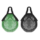 Pack of 2 Reusable Grocery Bags Large Cotton Mesh Net Shopping...