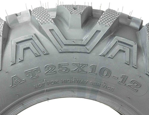 4 New 25x8-12 25x10-12 KT MASSFX TIRE SET ATV TIRES 6 PLY 25'' 25x8x12 25x10x12 by MASSFX (Image #4)