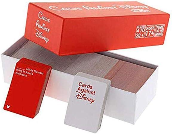 Cards Against Humanity Disney Edition - Incohearent Board Games Adult - Expansion Crazy Party Card Game Toy - Regalos para Amigos Hombres Mujeres Juegos de Fiesta,Rojo: Amazon.es: Hogar