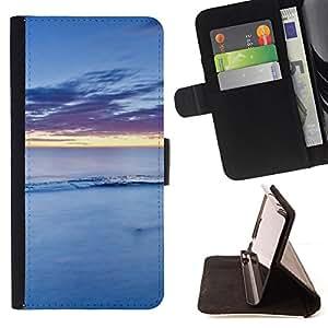 BullDog Case - FOR/Apple Iphone 6 / - / Nature Blue Water /- Monedero de cuero de la PU Llevar cubierta de la caja con el ID Credit Card Slots Flip funda de cuer
