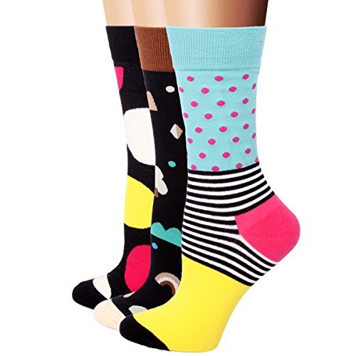 RioRiva 3 Paar Damen Mädchen Socken Freizeit Söckchen Snaker Baumwolle Sport Kurzsocken Bunt