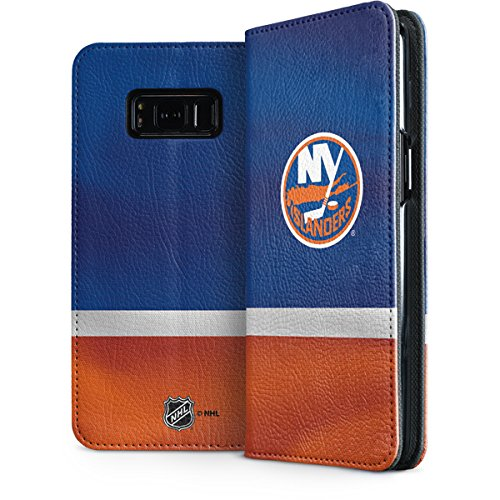 Islanders Nhl Leather - Skinit New York Islanders Jersey Galaxy S8 Plus Folio Case - Officially Licensed NHL Phone Case Folio - Faux-Leather Wallet Galaxy S8 Plus Cover