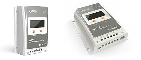 Regolatore di Carica MPPT 10A 12/24V 100Voc EP Solar Tracer
