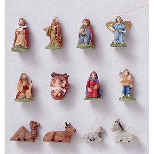 (Dollhouse Miniature 12 Piece Nativity Set Ornaments by Handley House)