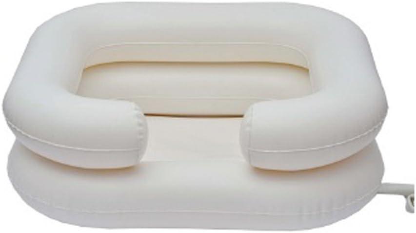 Kit lavacabezas hinchable | Contiene: cuenca, depósito de agua, manguera, protector y babero | Capacidad de la cuenca: 10 L | Capacidad del depósito de agua: 5 L