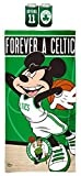 WinCraft Bundle - 3 Items: 1-Boston Celtics Disney Mickey Mouse 30' x 60' Beach Towel with Premium Spectra Graphics and 2 - Kyrie Irving Can Coolers