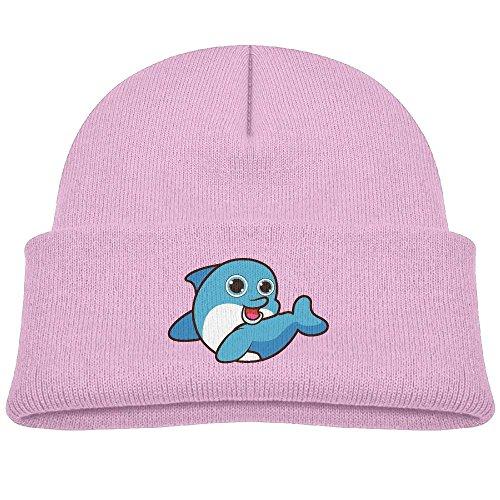 Pink Seattle Mariners Sweatshirt (Tongbu Dolphin Cute Cartoon Kids Winter Warm Knitted Hat Fashion Wool Caps Beanie children Girls Boys Knit Cap Pink)