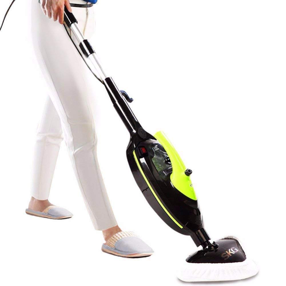 SKG 1500W Powerful Non-Chemical 212F Hot Steam Mops & Carpet and Floor Cleaning Black