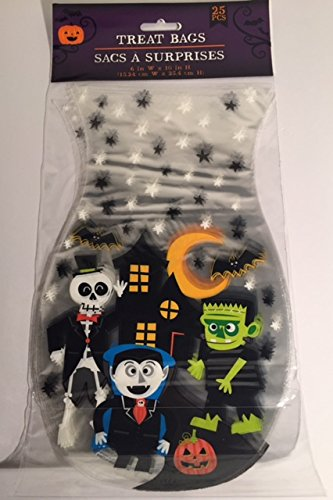 Halloween Haunted House Props Homemade (Haunted House Treat Bags 6in x 10in 25 Pieces)
