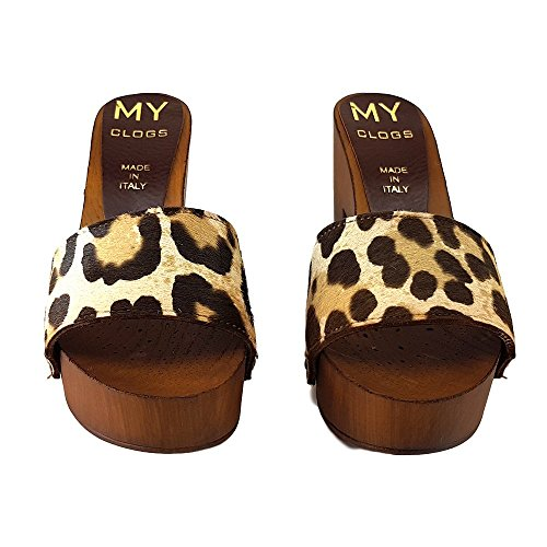 shoes Leopard I kiara MY10 Zoccoli CAVALLINO qc8F4gcWnY