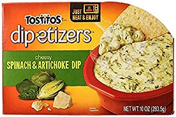 Amazon Com Tostitos Dip Etizers Cheesy Spinach Artichoke Dip 10 Ounce Prime Pantry
