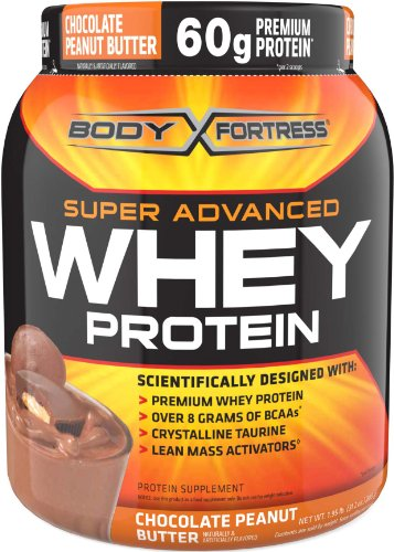 Body Fortress Super Advanced Whey Protein, Chocolate Peanut Butter, 1.95 lb. (885 g) (Powder Super Creatine)