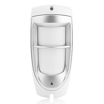 Detector de movimiento digital para exteriores con doble sensor PIR resistente al agua y la inmunidad