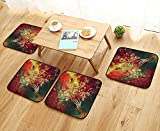 Printsonne Chair Cushions Astraut Floating with Bubbles Coral Reefs Gravity Non Slip Comfortable W25.5 x L25.5/4PCS Set