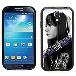 Samsung Galaxy S4 SIIII Black Rubber Silicone Case - Justin Bieber Never say Never Poster Style movie