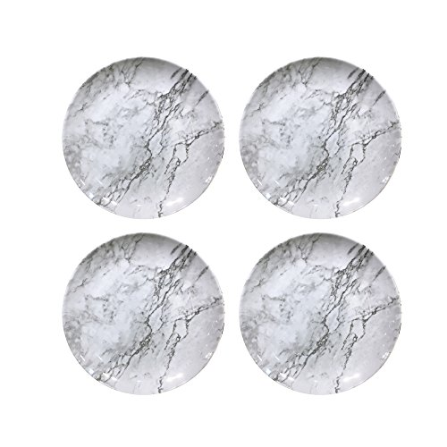 American Atelier 1184267-4S Marble Salad Plate Set, 8 x 8, G