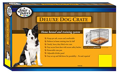 Four Paws Single Door Deluxe Dog Crate with Divider Panel, 42″ by 28″ by 30″