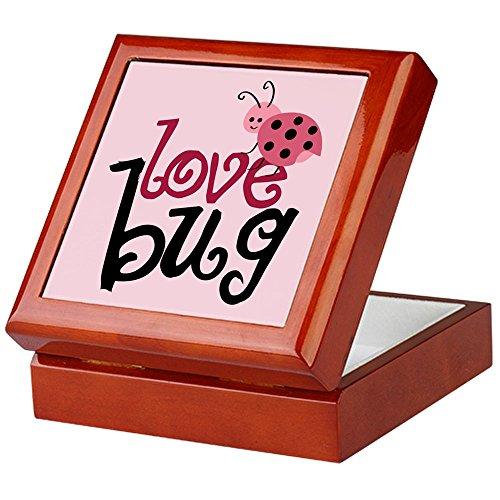 Love Bug Keepsake - CafePress - Love Bug Keepsake Box - Keepsake Box, Finished Hardwood Jewelry Box, Velvet Lined Memento Box