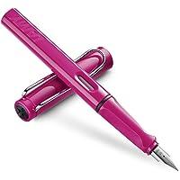 LAMY 凌美 safari狩猎者 墨水笔(钢笔)-限量款粉色(标配吸墨器) L13P(亚马逊进口直采,德国品牌) F尖(标准)