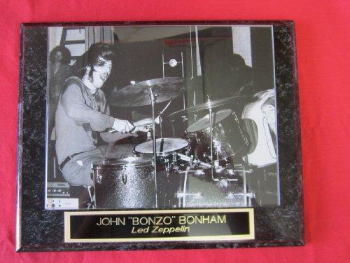 John Bonham Led Zeppelin Engraved Collector Plaque w/8x10 VINTAGE Photo ()