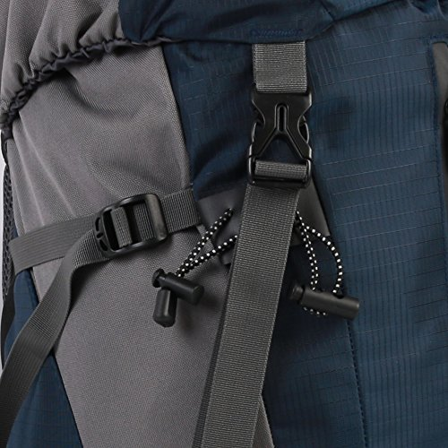 nuosheng al aire libre multiusos montañismo viajes bolsa de hombro hombres y mujeres deportes 45+ 5L gran capacidad Camping mochila, naranja azul marino