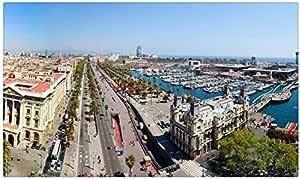 España casas carreteras marinas Barcelona ciudades muebles & decoración imán imanes de nevera: Amazon.es: Hogar