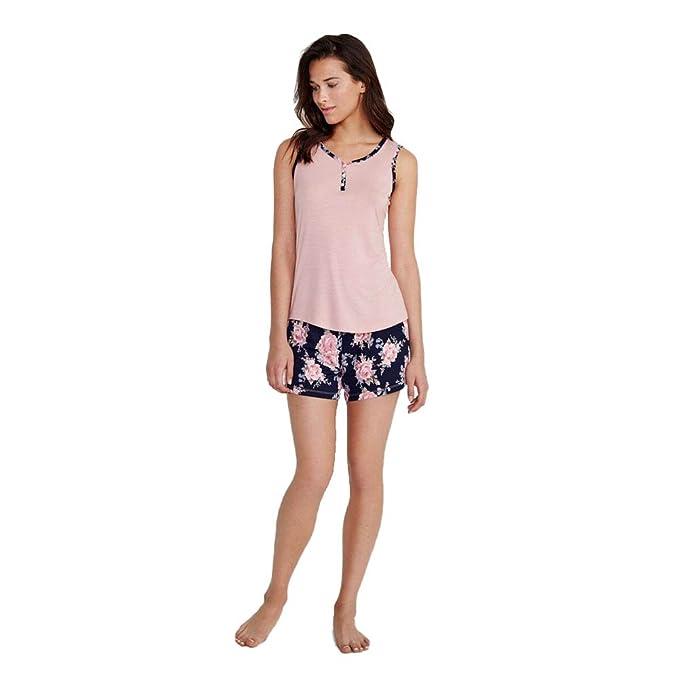 PROMISE Pijama de Mujer sin Mangas N05192 - Rosa, M