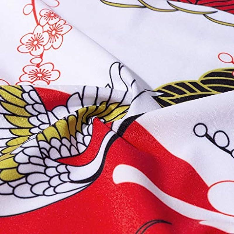 Siehin Męskie Frühling-Sommer Ukiyoe Cardigan Japan Happi Kimono Oberbekleidung Strickjacke Nachtwäsche Yukata Baggy Tops: Odzież