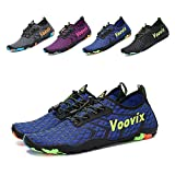 Leaproo Women Men Water Shoes Quick Dry Barefoot Sports Aqua Shoes for Swim Walking Yoga Beach Driving Boating blue43