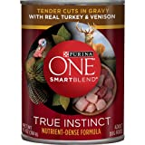 Purina ONE SmartBlend True Instinct Tender Cuts in Gravy with Real Turkey & Venison Dog Food 13 oz. Can